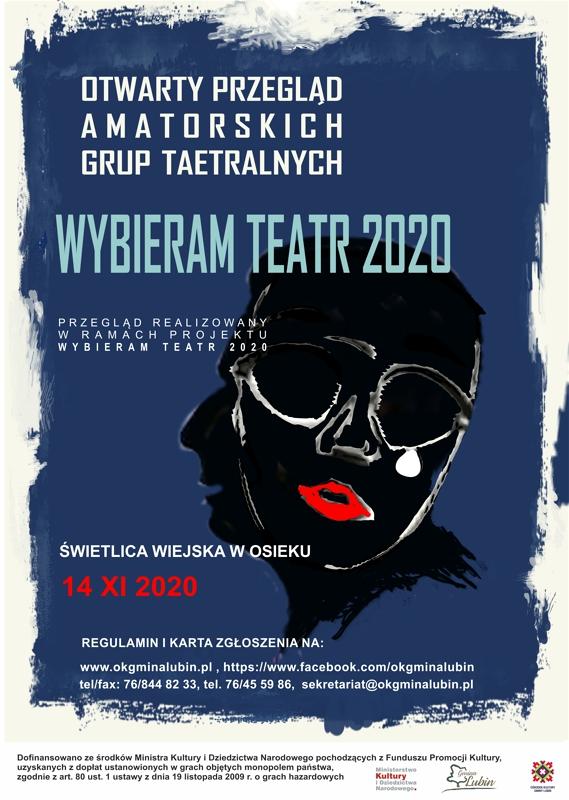 2020 PLAKAT PRZEGLĄD GRUP TEATRALNYCH