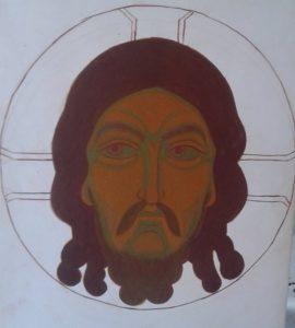 Obraz przedstawiający twarz Jezusa