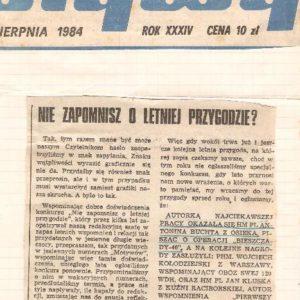 Artykuł w gazecie bieszczadzkiej