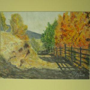 Obraz przedstawiający drogą polną