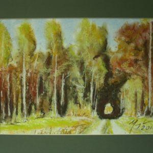 Obraz przedstawiający drogę do lasu