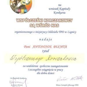 KORCZAKOWIACY dyplom