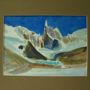 Obraz przedstawiający góry w śniegu