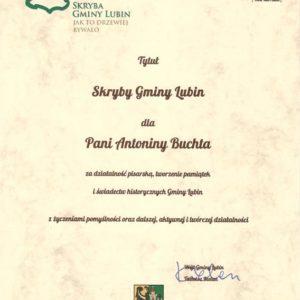 Dyplom uzyskania tytułu SKRYBA