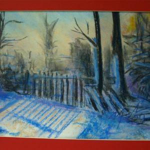 Obraz przedstawiający zimę
