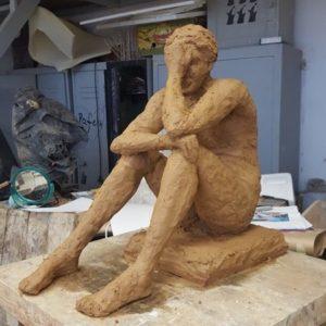 Rzeźba gliniana w wykonaniu pani Mirosławy