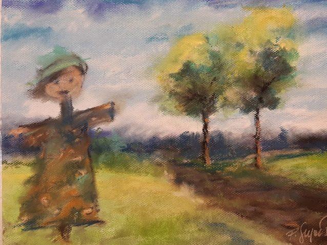 Obraz namalowany suchymi pastelami