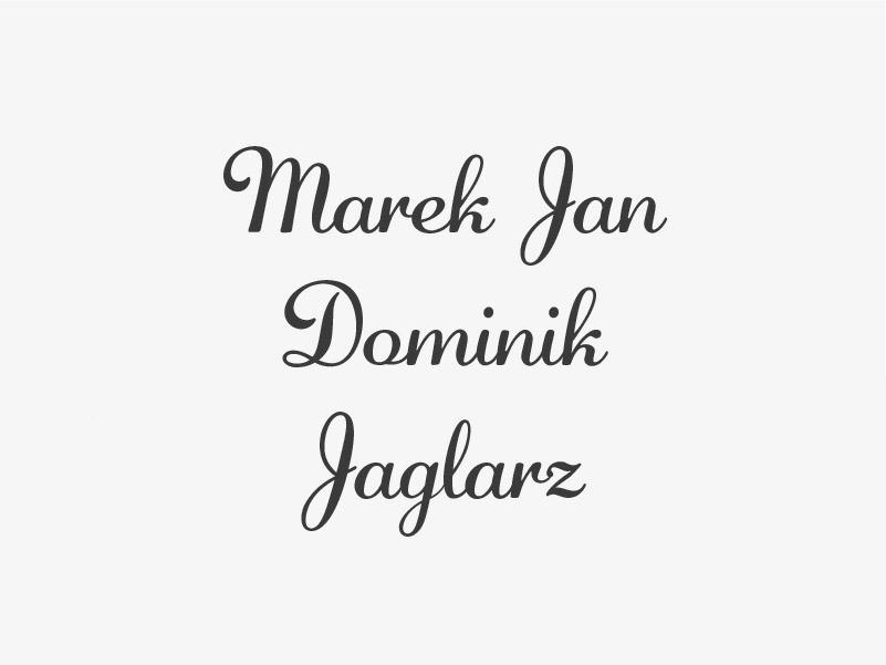 Marek Jan Dominik Jaglarz z Gorzelina