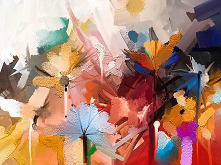 Malarstwo olejne-kwiaty